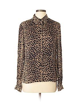 INC International Concepts Long Sleeve Silk Top Size 12