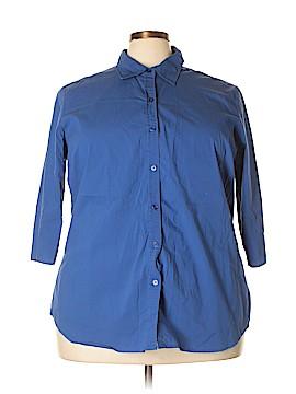 Venezia Long Sleeve Button-Down Shirt Size 22 (Plus)