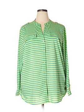 Calvin Klein Long Sleeve Blouse Size 2X (Plus)