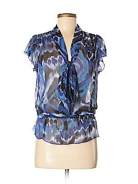 Wrapper Short Sleeve Blouse Size M