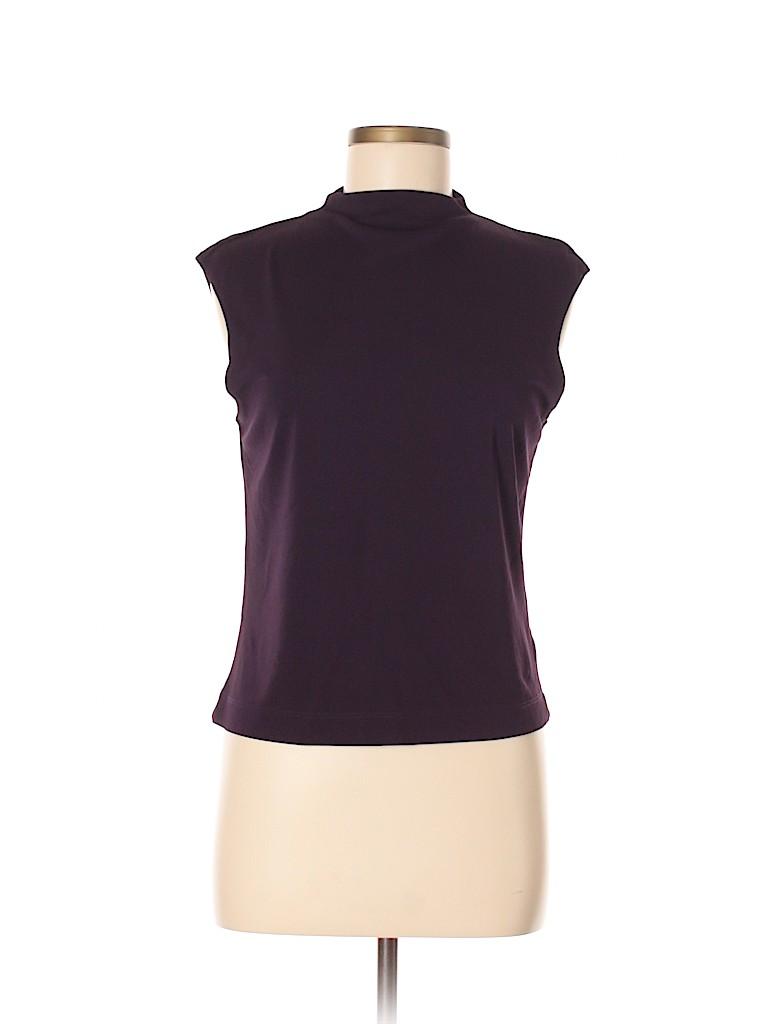2132d86305528 Kasper A.S.L. Solid Dark Purple Sleeveless Blouse Size M - 80% off ...