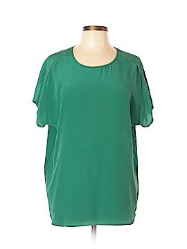 Broadway & Broome Short Sleeve Silk Top Size XL