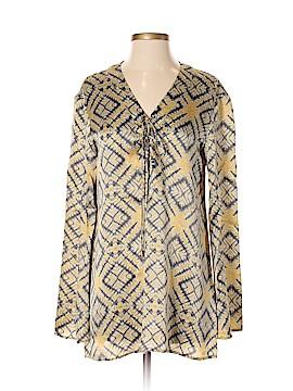 SW3 Bespoke Long Sleeve Silk Top Size S