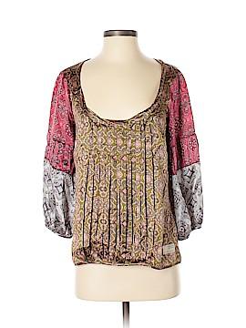 Odd Molly 3/4 Sleeve Silk Top Size Sm (1)