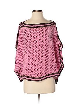 Gap Body Short Sleeve Silk Top Size Med - Lg