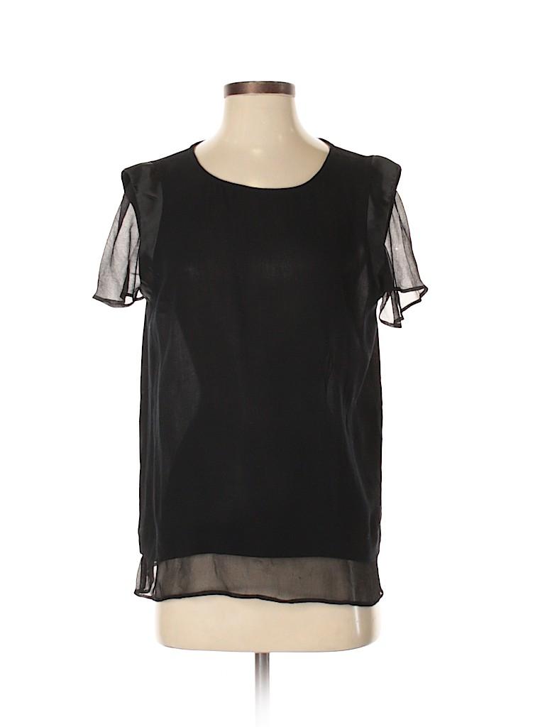 Ella Moss Women Short Sleeve Button-Down Shirt Size S