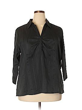 Quizz Woman 3/4 Sleeve Button-Down Shirt Size 20w (Plus)