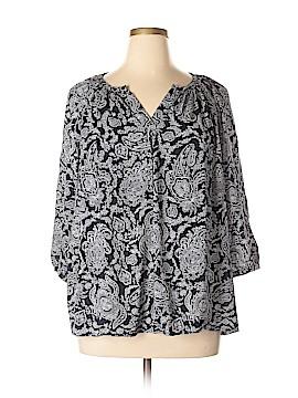 Cynthia Rowley for T.J. Maxx 3/4 Sleeve Blouse Size 1X (Plus)