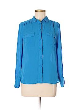 J. Crew Long Sleeve Silk Top Size 8