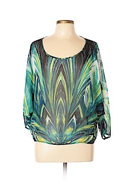 Bisou Bisou 3/4 Sleeve Blouse Size XL
