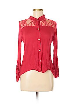 Topia Long Sleeve Button-Down Shirt Size M