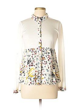 Hem & Thread Long Sleeve Button-Down Shirt Size M