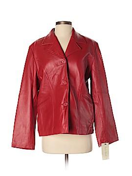 Studio Works Leather Jacket Size M