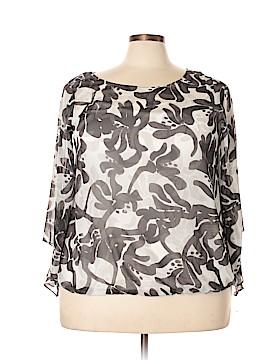 Alfani Long Sleeve Button-Down Shirt Size 2X (Plus)