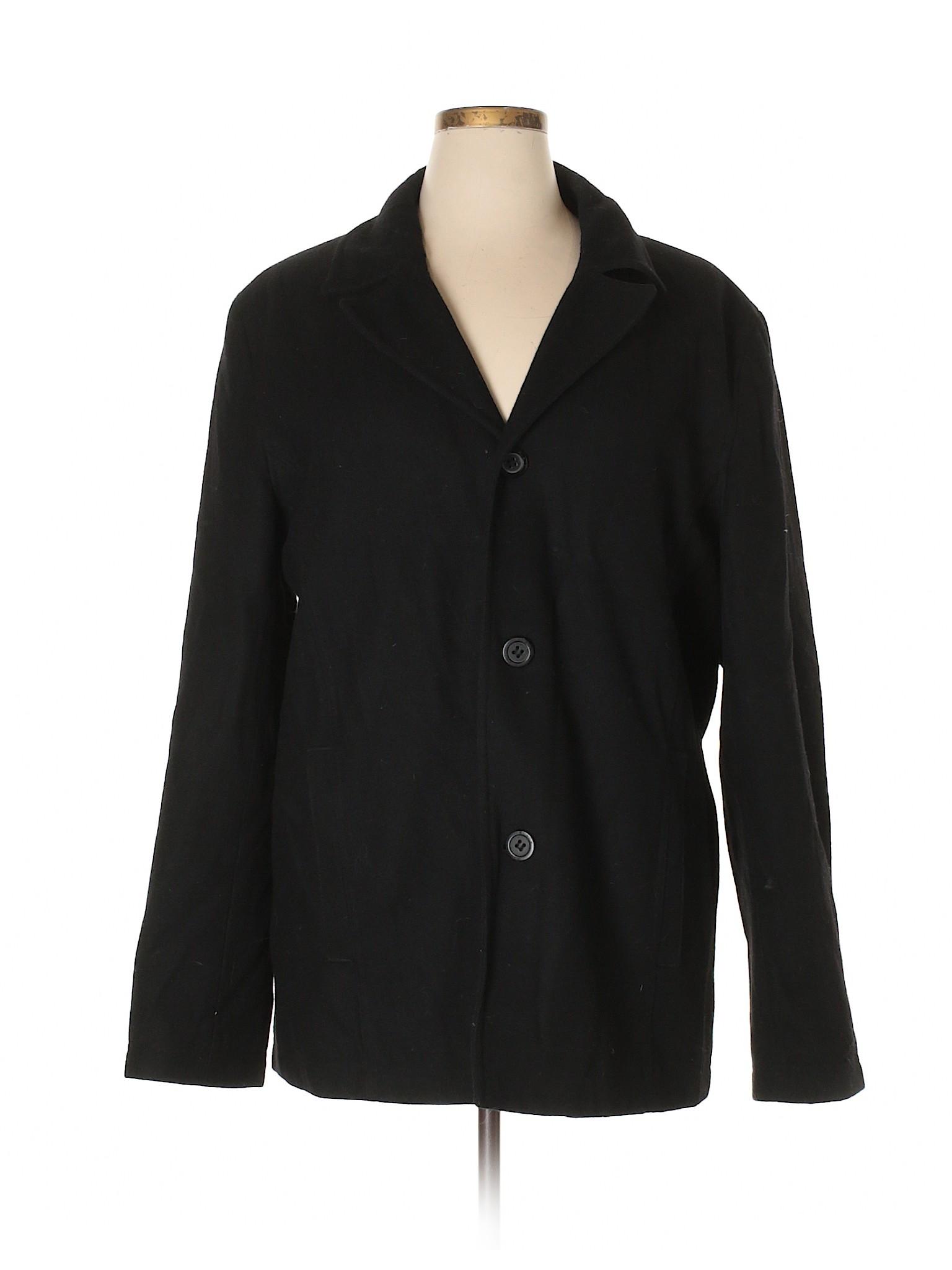 Rivet Wool winter Coat Black Leisure EqRpvwv6