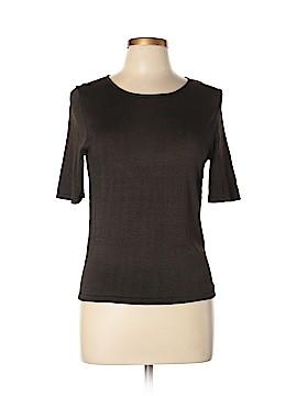 Linda Allard Ellen Tracy Short Sleeve Silk Top Size L