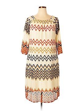 Fresh of LA Casual Dress Size 2X (Plus)