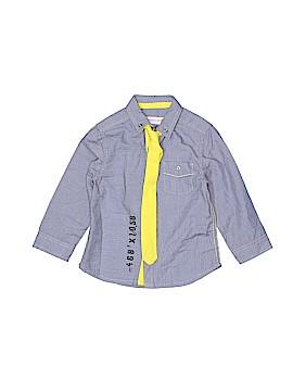 Deux Par Deux Long Sleeve Button-Down Shirt Size 18 mo