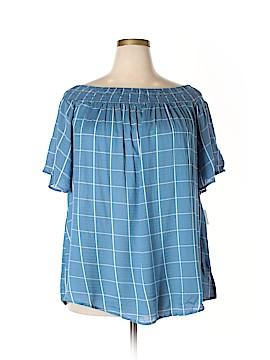 StyleStalker Short Sleeve Blouse Size 2X (Plus)