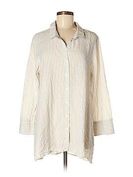 Habitat Long Sleeve Button-Down Shirt Size M