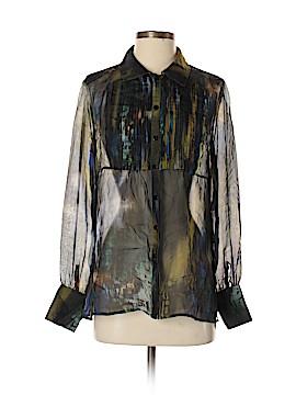 Hilton Hollis Long Sleeve Silk Top Size S