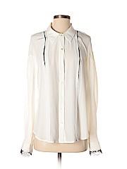 Rachel Roy Long Sleeve Silk Top
