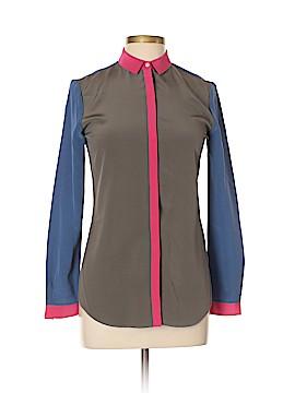 Thomas Pink Long Sleeve Silk Top Size 6