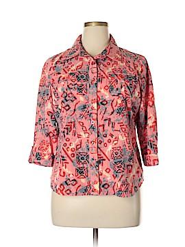 Breckenridge 3/4 Sleeve Button-Down Shirt Size XL (Petite)