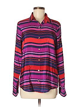C. Wonder Long Sleeve Silk Top Size S