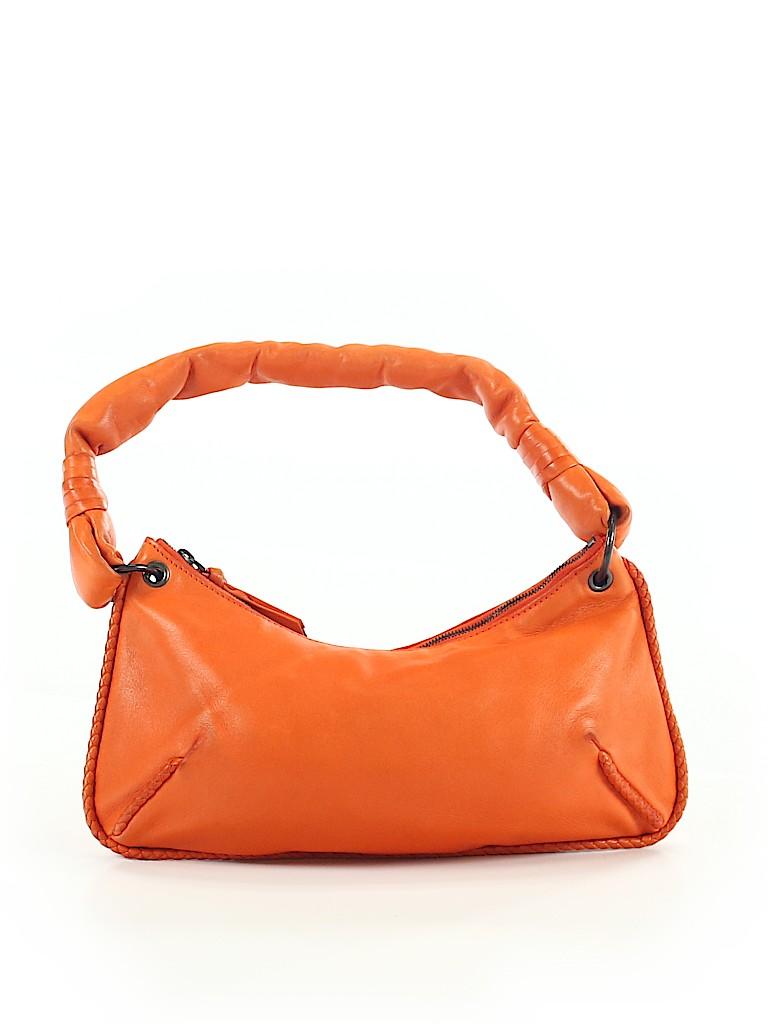 Bottega Veneta 100% Leather Solid Orange Leather Shoulder Bag One ... b3077001cbd08