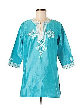 Gretchen Scott Designs 3/4 Sleeve Silk Top Size XS