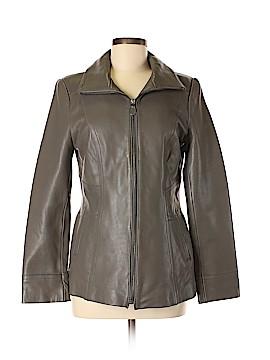 Tahari Leather Jacket Size M