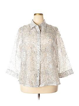 French Laundry 3/4 Sleeve Blouse Size 1X (Plus)