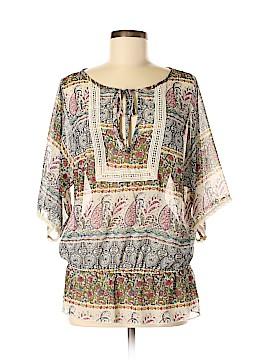 Lavish Short Sleeve Blouse Size M