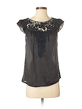 Prevett Short Sleeve Silk Top Size S