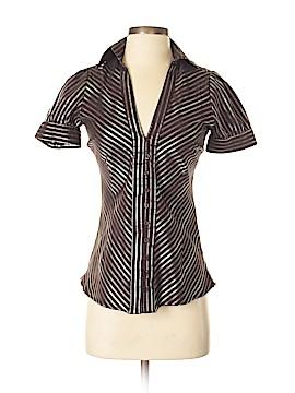 Zara Basic Short Sleeve Button-Down Shirt Size S