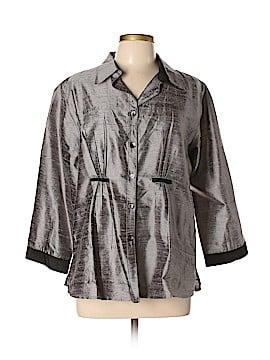 Anu by Natural 3/4 Sleeve Silk Top Size XL