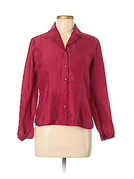 Allison Taylor Long Sleeve Silk Top Size M