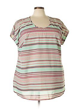 Daniel Rainn Short Sleeve Blouse Size 3X (Plus)
