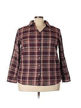 Fashion Bug Long Sleeve Button-Down Shirt Size 18 - 20 (Plus)