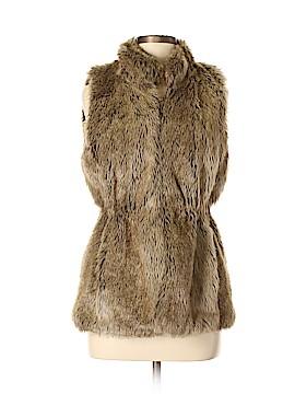 Banana Republic Faux Fur Vest Size S (Petite)
