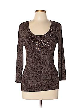 August Silk 3/4 Sleeve Top Size XL