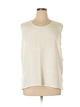 Caroline Rose Sleeveless Silk Top Size XL