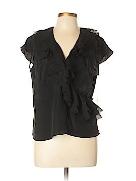 Nine West Short Sleeve Silk Top Size 12