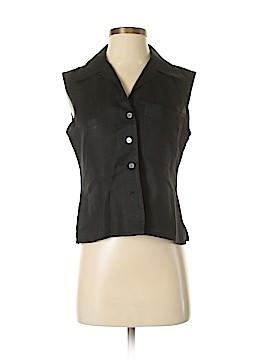 Linda Allard Ellen Tracy Sleeveless Button-Down Shirt Size 4