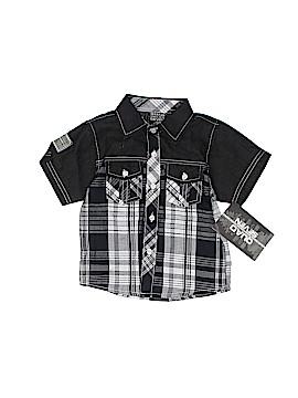 Quad Seven Short Sleeve Button-Down Shirt Size 24 mo
