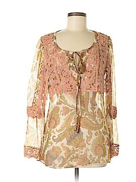 Sundance Long Sleeve Silk Top Size S