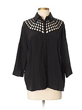 Vena Cava Long Sleeve Silk Top Size S