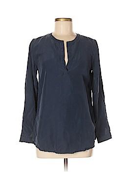 Garnet Hill Long Sleeve Silk Top Size 6