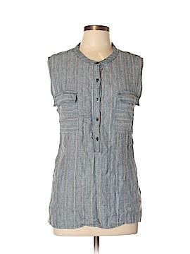 Caslon Sleeveless Button-Down Shirt Size XL